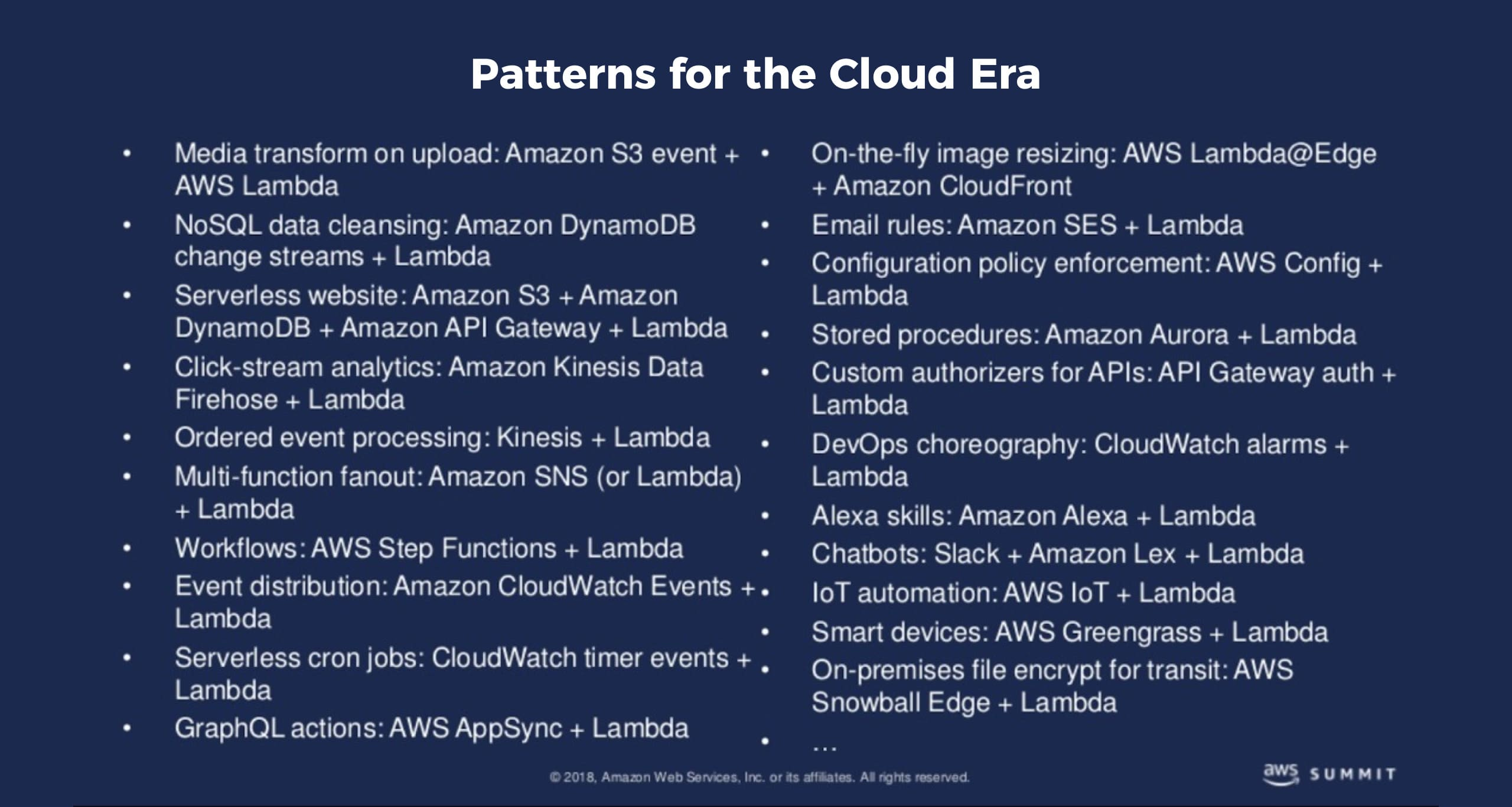 Patterns of Cloud Era
