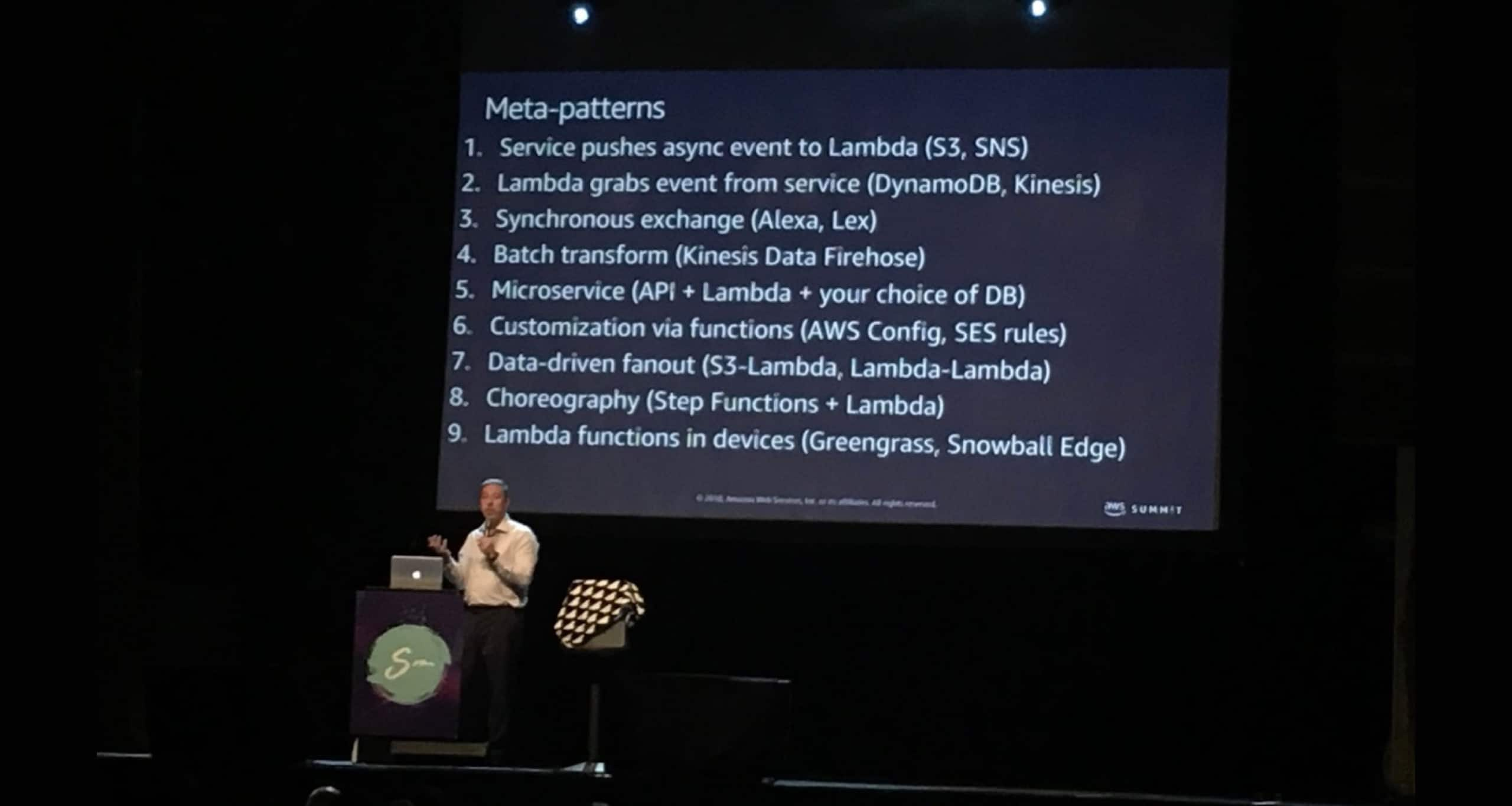 Serverless architecture: Meta-Patterns presented at the ServerlessConf 2018