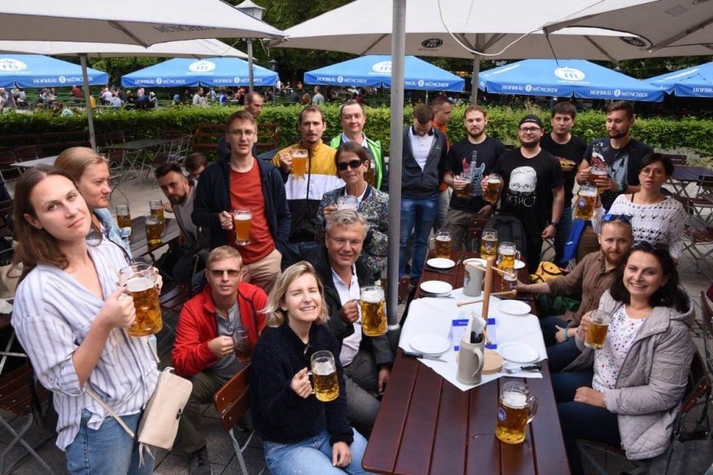 K&C Team, Chinese Tower Beer Garden. Munich, Germany
