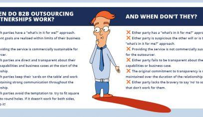 When does IT outsourcing work and when doesn't it infographic